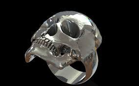 Skull Viewer Skull Ring Step Iges 3d Cad Model Grabcad