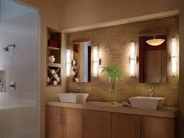 bathroom lighting ideas for small bathrooms toilet in light brown