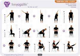 easy poses for seniors with a chair level 1 class 3