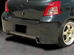 toyota yaris 07 diablo series rear bumper cover for toyota yaris 2007 2011 3dr 5dr