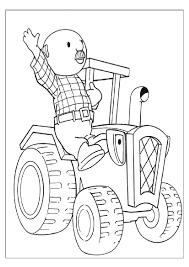 bob builder tractor coloring pages free printables wendy
