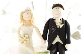 bride and groom wedding cake toppers stock photo picture and