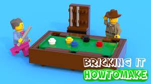 how to make a lego pool table moc basic youtube