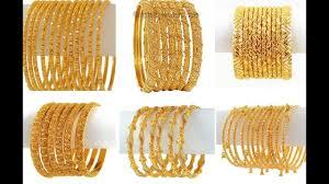 new gold set churi set of six gold bangles new gold bangles set of 6