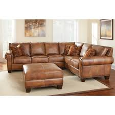 Sectional Sofa And Ottoman Set by Sanremo Top Grain Leather Sectional Sofa And Ottoman Set By