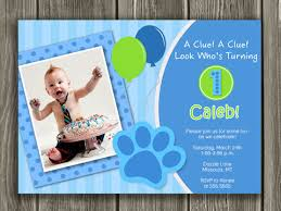 printable blues clues birthday photo invitation kids first