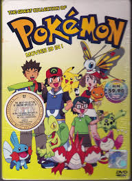 dvd anime pokemon 19 in 1 movies box set collection region all