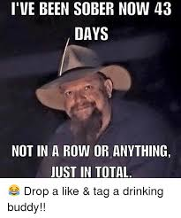 Drinking Memes - i ve been sober now 43 days not in a row or anything just in total