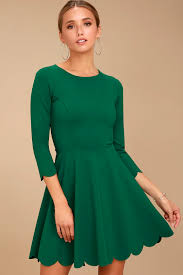 cute dark green velvet dress off the shoulder dress skater