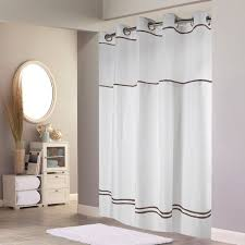 White Shower Curtains Fabric Best 25 Hookless Shower Curtain Ideas On Pinterest Hotel Shower