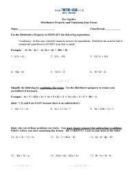 algebra combining like terms worksheet free worksheets library