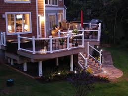 Outdoor Fence Lighting Ideas by Exterior Outdoor Deck Lighting Ideas Outdoor Pool Solar
