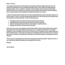 Cover Letters Examples For Teachers Student Teacher Cover Letter Gallery Cover Letter Ideas