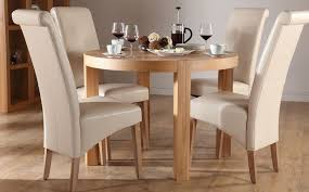 Oak Dining Table Chairs Sophisticated Stylish 4 Chair Dining Table Set Chairs Amazing Room