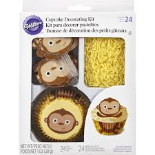 Wilton Cupcake Decorating Monkey Cupcake Decorating Kit Wilton
