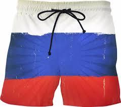 Russian Flag Colors Russian Flag Swim Shorts Ss0295