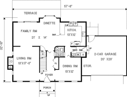 colonial style house plan 4 beds 2 50 baths 2141 sq ft plan 3 170