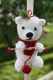 ravelry teeny knitting teddy ornament pattern by tat sgrans treasures