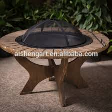 Fire Pit Poker by Garden Faux Wood Fire Pit Table W Spark Screen And Poker Buy