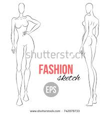 woman body types female big shapes stock vector 520880836