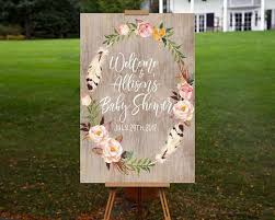 baby shower welcome sign baby shower welcome sign printable personalized floral welcome