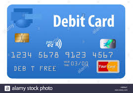 free debit cards debit card blue card generic isolated on a white background