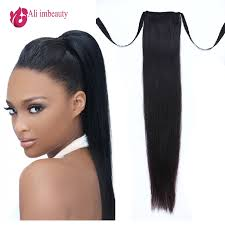 ponytail extension grade 6a remy human hair ponytails hair 100 human hair