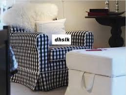 Ikea Ektorp Armchair Cover Ektorp Jennylund Armchair Slipcover Cover Stoarp Black White Checks