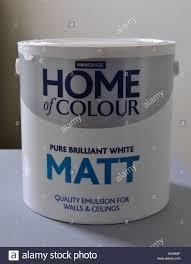 can of homebase white matt emulsion paint stock photo royalty