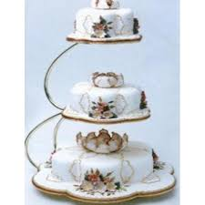 3 Tier Wedding Cake Pme E Shape 3 Tier Gold Wedding Cake Stand Equipment From Cake