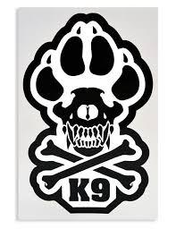 k9 paw decal k9 skull decal k9 skull crossbones decal mil spec