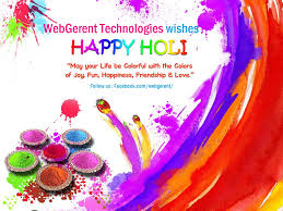 webgerent wishes the holi the festival of colors 2016