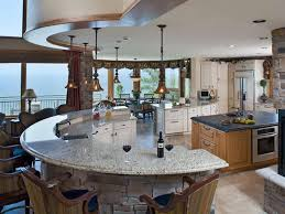 curved kitchen island base cabinets