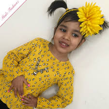flower hair band yellow headband big flower hairband baby accessories