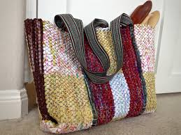Basic Diy Loom And Woven by Rag Rug Bag With Woven Handles Karen Isenhower Make With