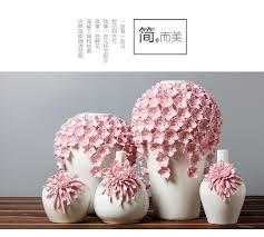 Flowers For Floor Vases Ceramic Pink Daisy Flowers Vase Home Decor Large Floor Vases For