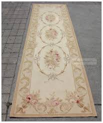 Chinese Aubusson Rugs 10 U0027 Runner Aubusson Rug Antique French Pastel Wool Handmade French