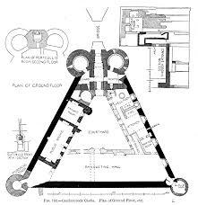 description caerlaverock castle plan of ground floor etc png