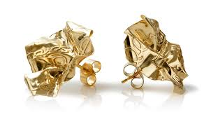 concepts earrings 23ct gold plated silver decorative concepts earrings mari