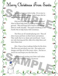 sign up for a letter from santa santa u0027s mailbag inc