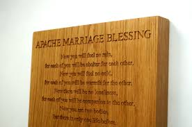apache blessing wall plaque makemesomethingspecial