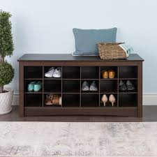 prepac shoe storage cubbie entryway bench walmart com