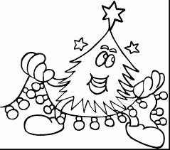 Marvelous Hello Kitty Christmas Coloring Pages With Christmas Tree Hello Tree Coloring Page