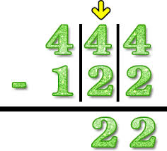 three 3 digit subtraction without regrouping borrowing for