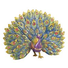 online get cheap peacock jewelry box aliexpress com alibaba group