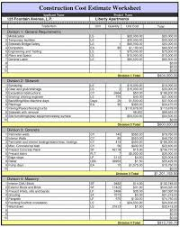 home building cost cost estimate spreadsheet onlyagame
