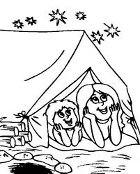 printable camping coloring pages kids print free coloring