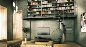 decorations elegant home library decor with black wall and black