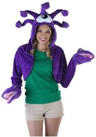 Woman Monster Halloween Costume by Cece May Purple Shrug