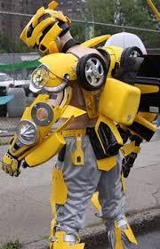Bumblebee Transformer Halloween Costume Bumblebee